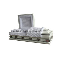 White Shaded Silver Finish Casket (Oversize)